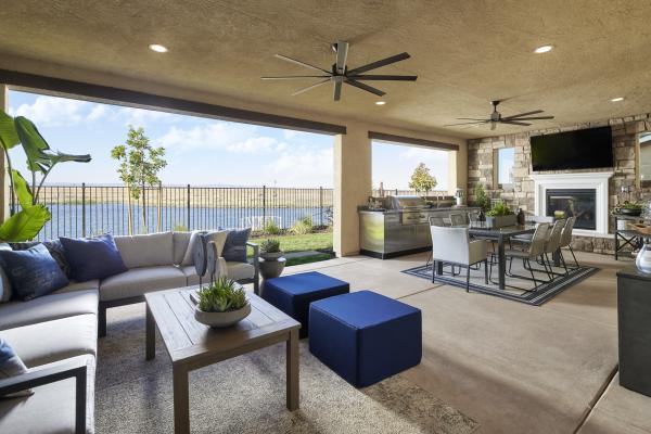Bridgeport at River Islands Indoor Patio photo-New Homes in Lathrop, CA